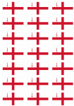 London Flag Stickers - 21 per sheet